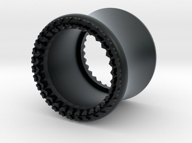 VORTEX8-11mm in Black Hi-Def Acrylate