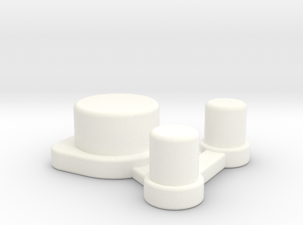 NLPWM Frame v2 Single Part Actuator in White Strong & Flexible Polished