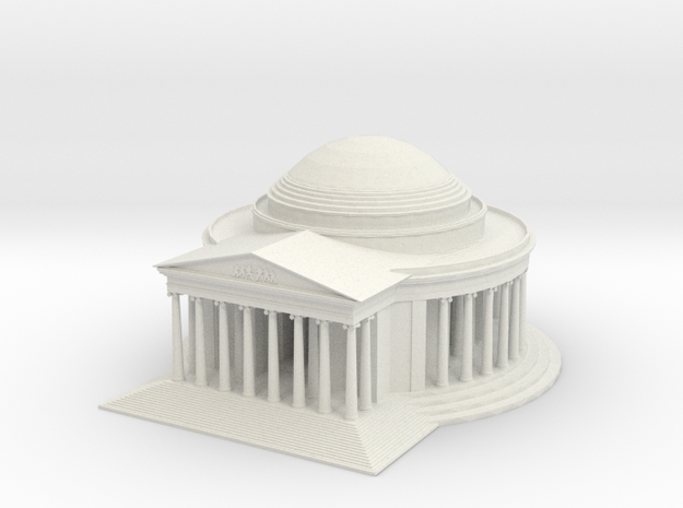Jefferson Memorial Model  Small in White Strong & Flexible