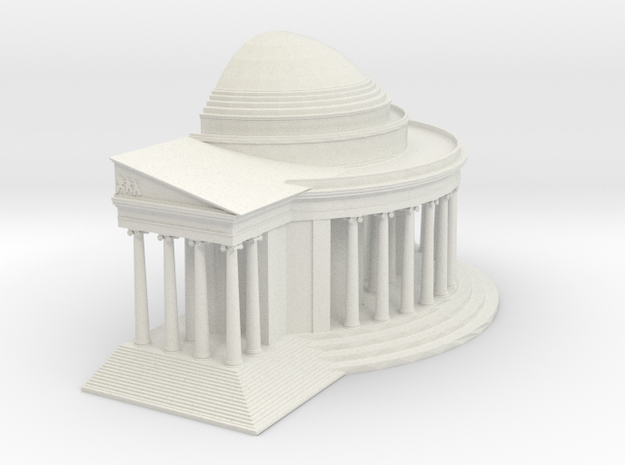 Jefferson Memorial Model 1 Half Small in White Strong & Flexible