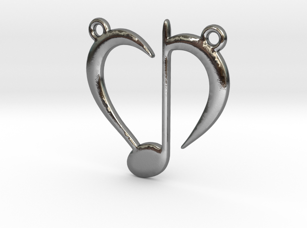 Love Music in Polished Silver