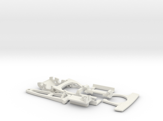 Slotcar racing Chassis 1:32 scale -update - EVO II in White Strong & Flexible