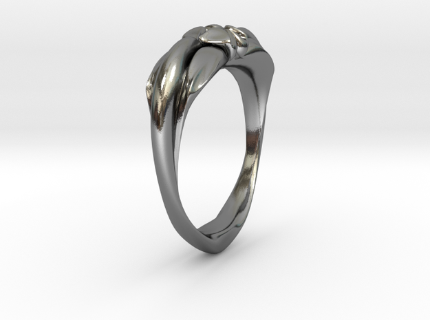 Heartring Size 11 in Polished Silver