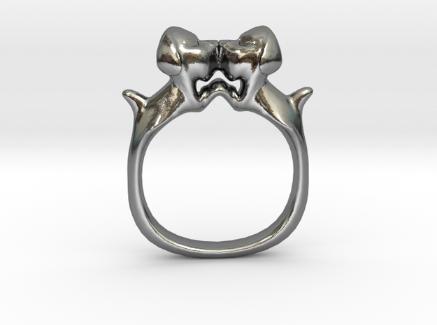 Dog Ring Size 10 in Polished Silver