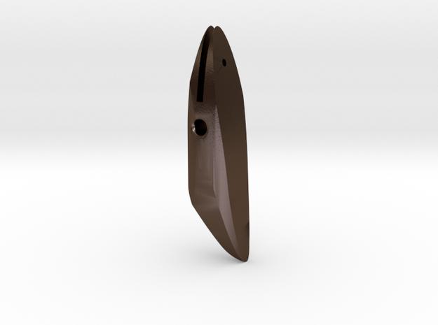 HARPOON TIP 5 in Polished Bronze Steel