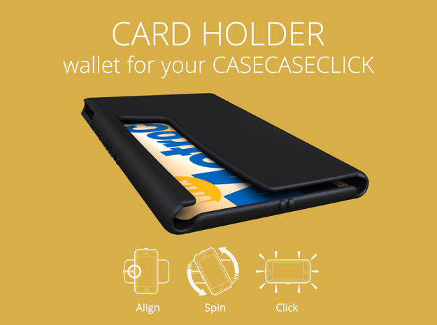 wallet : smooth : CASECASE CLICK in Black Natural Versatile Plastic