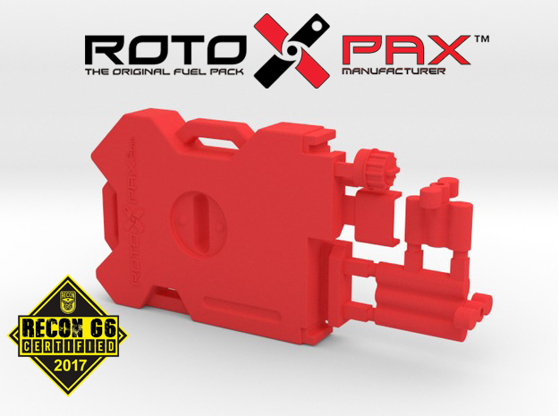 AJ10012 RotopaX 2 Gallon Fuel Pack - RED in Red Processed Versatile Plastic