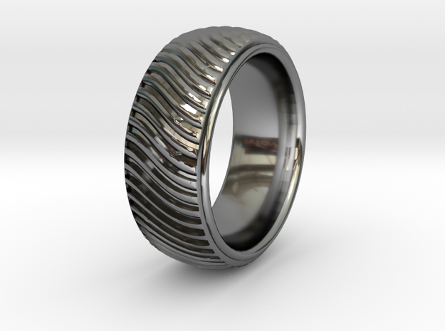 Braid Pattern 2  in Premium Silver: 9.5 / 60.25
