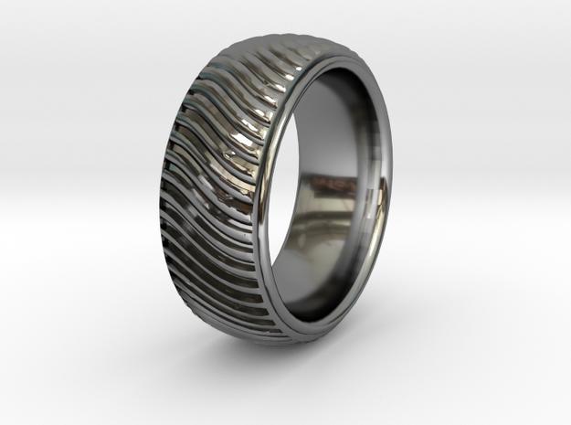 Braid Pattern 2  in Fine Detail Polished Silver: 9.5 / 60.25