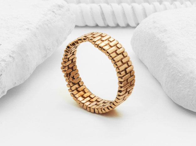 Brick Arch Ring in Polished Bronze: 8 / 56.75