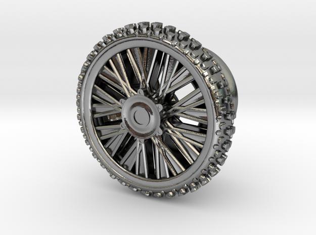 Dirbike wheel Earing Plug 10mm 00G (single) in Polished Silver