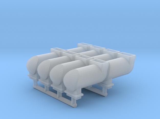 MILW GP/SD/F Exhaust Spark Arrestor (N - 1:160) 8X in Smoothest Fine Detail Plastic