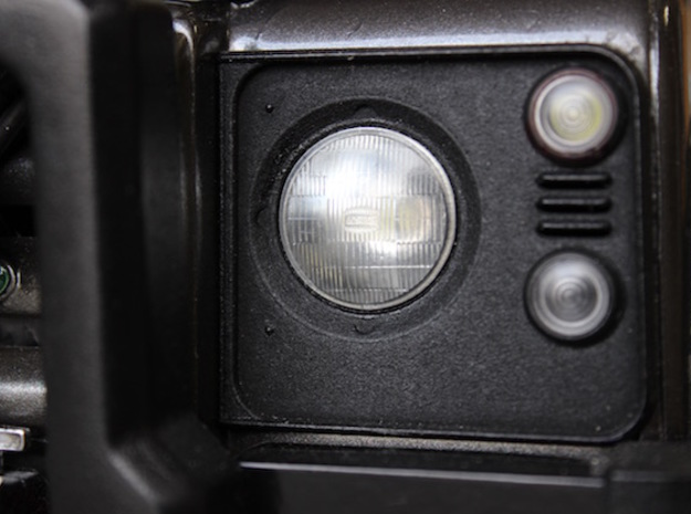 Defender Headlamp Surrounds  in White Strong & Flexible Polished