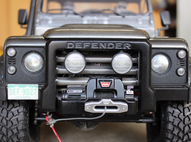 Defender Spectre Winch Bumper - RC4WD in Polished Bronzed Silver Steel