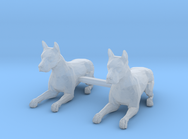Dogs Lying Down in Smoothest Fine Detail Plastic: 1:64 - S