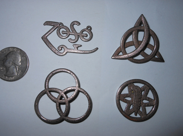 symbol all 01 in Polished Bronzed Silver Steel