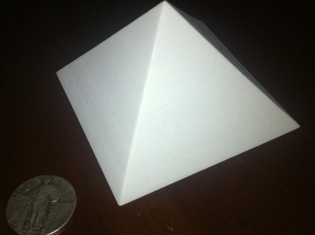 Great Pyramid in White Natural Versatile Plastic