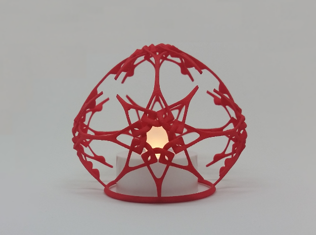 Christmas Stars (dual purpose ornament) in Red Processed Versatile Plastic