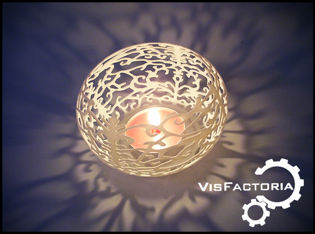 Tea light shade 3d printed