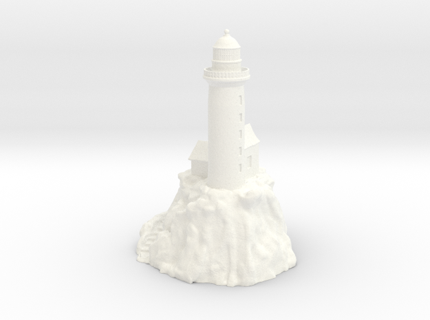 Lighthouse on a rock in White Strong & Flexible Polished