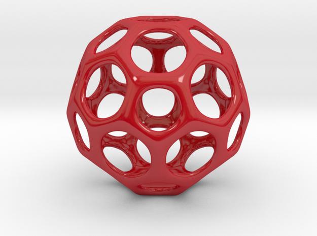 Vase V7 in Gloss Red Porcelain: Medium