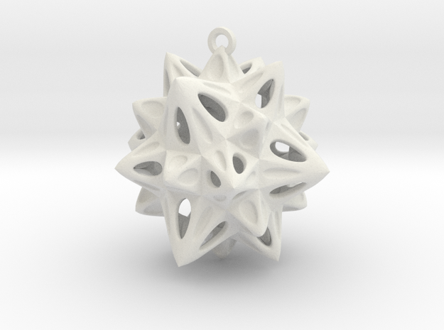 Christmas Tree Decoration in White Strong & Flexible