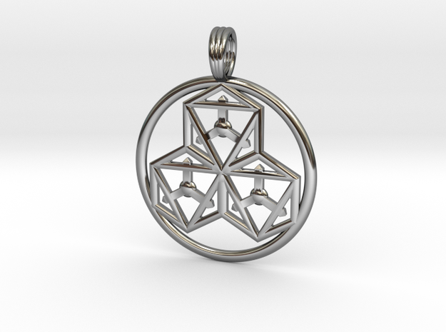 TRI-OCTAHEDRONS in Fine Detail Polished Silver