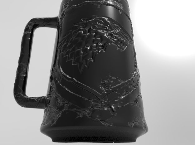 MUG Game Of Trhones Stark House  in Black Strong & Flexible: Small
