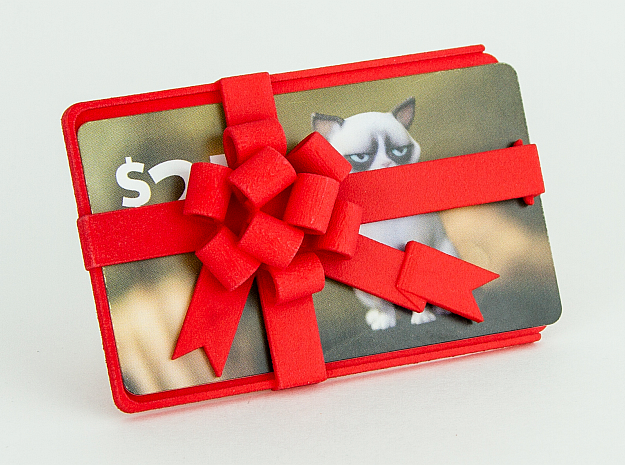 Gift Card Holder in Red Strong & Flexible Polished