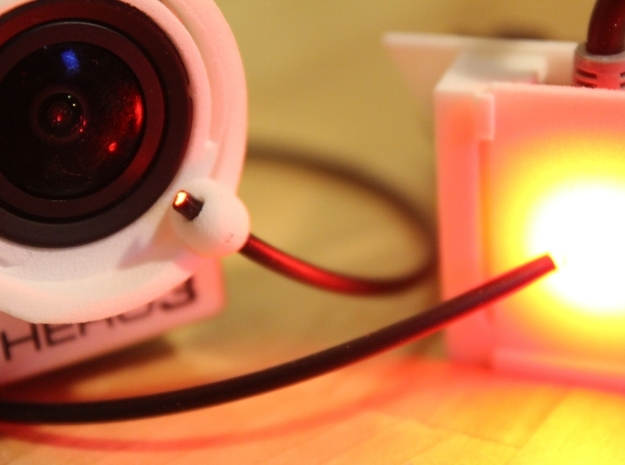 DJI NAZA v2 LED Housing - Fibre Optic OSD capable 3d printed Used with FO-OSD Ring