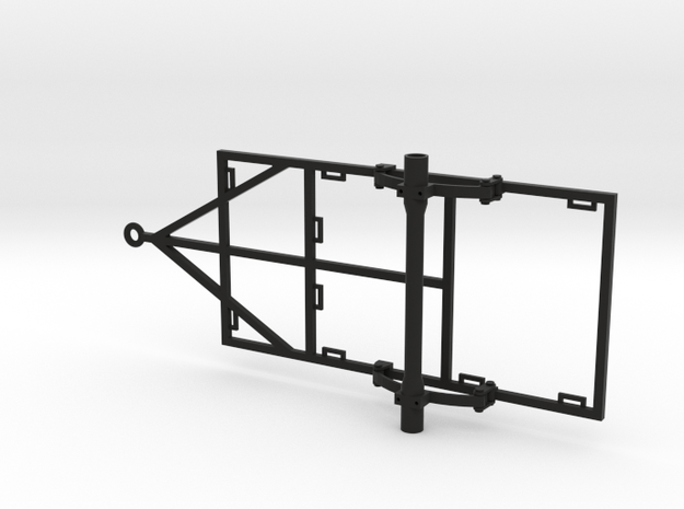 1/10 Scale 4x8 Trailer Frame w/ Leaf Spring Suspen in Black Strong & Flexible