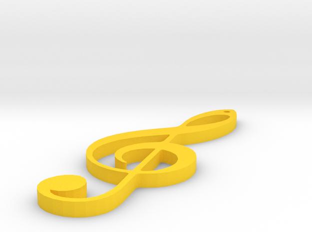 Sol Key in Yellow Processed Versatile Plastic