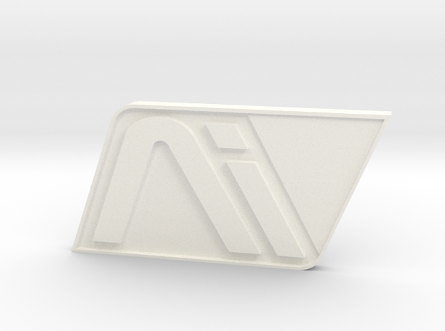 Andromeda White Badge in White Strong & Flexible Polished