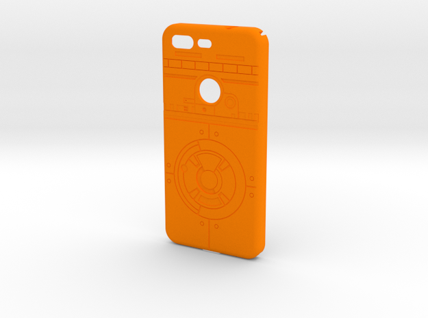 Rolling Droid Case for Google Pixel in Orange Strong & Flexible Polished