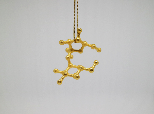 Sucrose (Sugar) Molecule Necklace Keychain