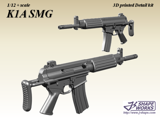 1/9 K1A SMG in Smoothest Fine Detail Plastic