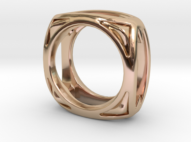 PILLOW 10 RING  in 14k Rose Gold Plated: 9 / 59