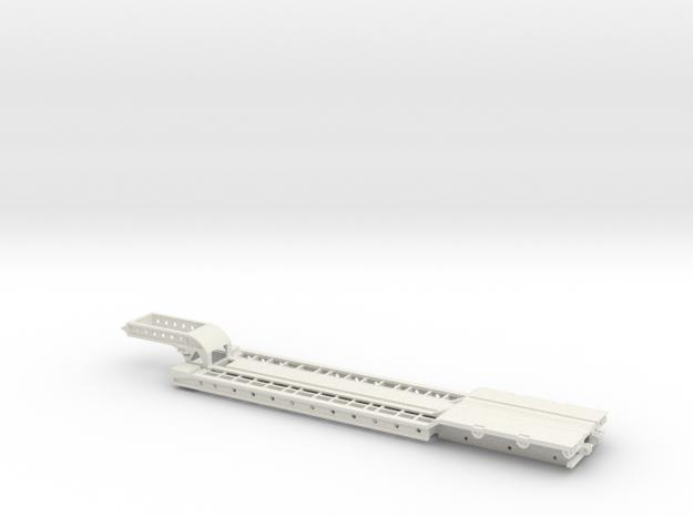 50-Ton Gooseneck Lowboy in White Natural Versatile Plastic