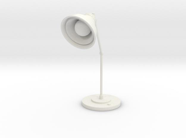 Lamp in White Natural Versatile Plastic: Large