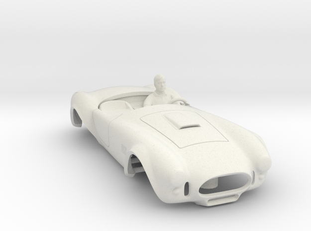 427 Cobra Body: Fits AFX MegaG 1.7 in White Strong & Flexible