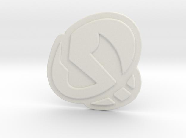 Team Skull Pendant in White Strong & Flexible