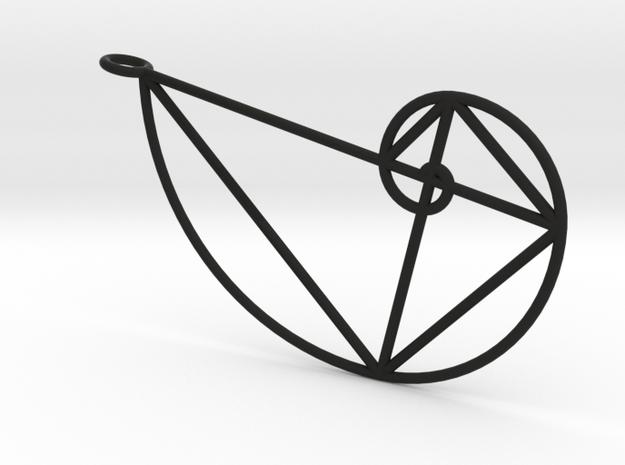 Right Golden Spiral Pendant