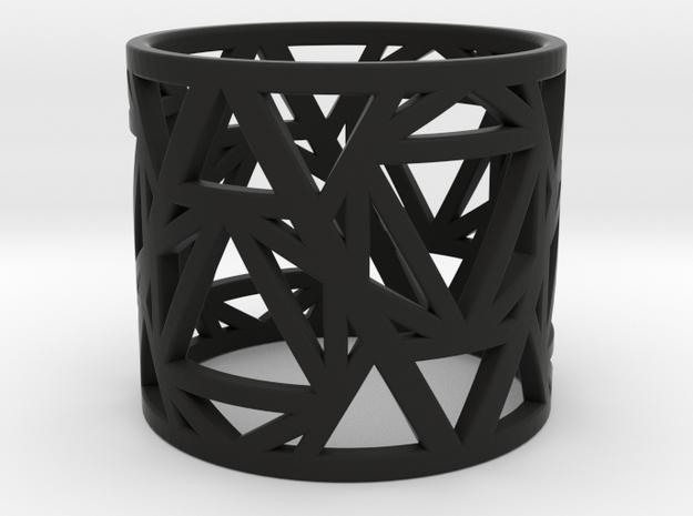 Zero Point Geometry Ring in Black Natural Versatile Plastic: 6 / 51.5