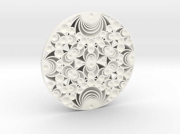 Gaussian Schmidt Arrangement in White Strong & Flexible Polished