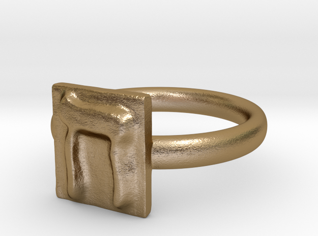 08 Het Ring in Polished Gold Steel: 7 / 54
