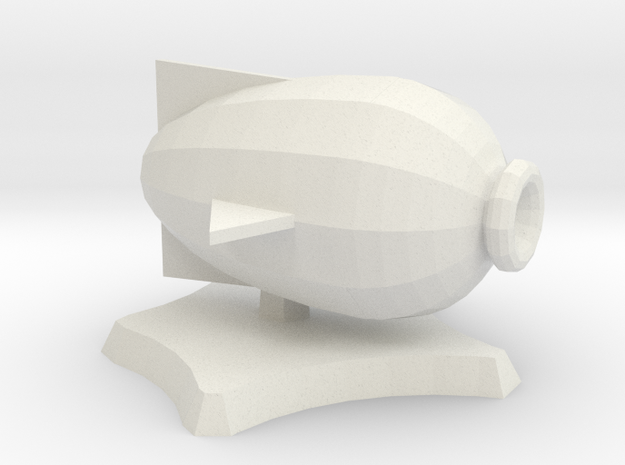 Puffer, miniature airship in White Natural Versatile Plastic