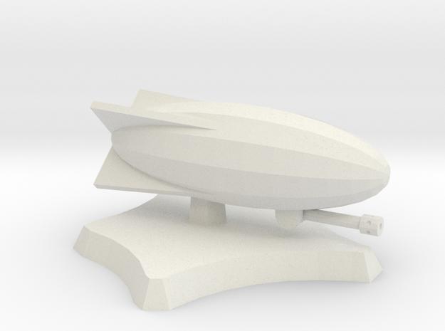 Snipper airship in White Natural Versatile Plastic