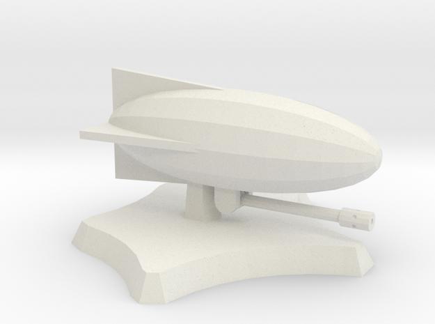 Eagle's Eye airship in White Natural Versatile Plastic