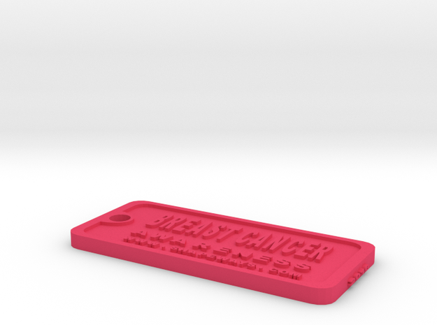 Tag-1-cw in Pink Strong & Flexible Polished