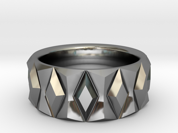 Diamond Ring V2 - Curved in Premium Silver